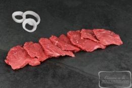 Boeuf coupé pour cuisson sur pierre (coeur de rumsteck)