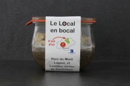 Porc du Mont-Lagast aux lentilles de St-Flour 'Le local en Bocal'