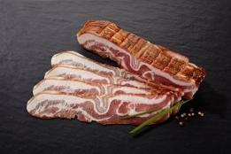 Poitrine fumée tranchée (bacon)