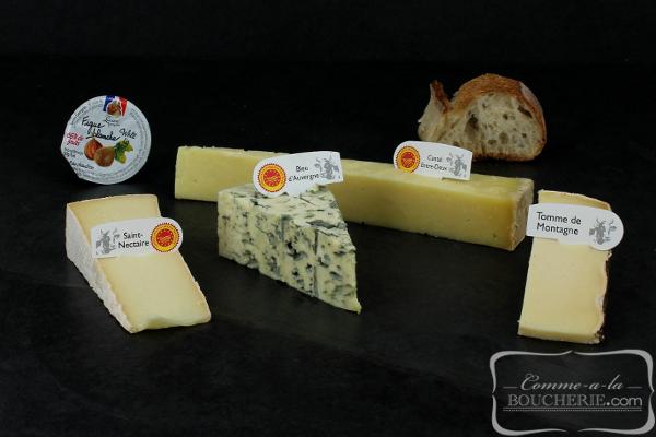 Plateau de fromages d'Auvergne
