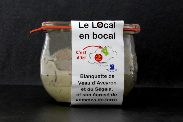 Blanquette de veau d'Aveyron et du Ségala 'Le local en Bocal'