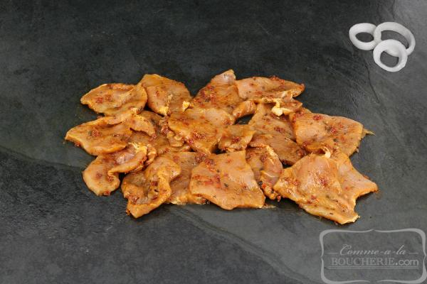 Emincé de filet de porc à la calabraise
