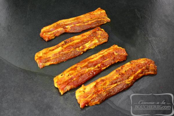 Poitrine de porc marinée au curry