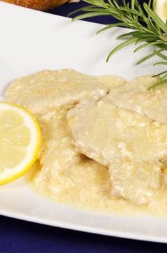 Recette de Escalope de veau au citron et romarin