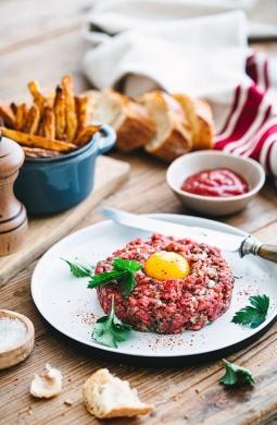 Recette de Steak tartare et frites