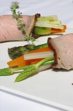 Recette de Roulé de veau aux petits légumes