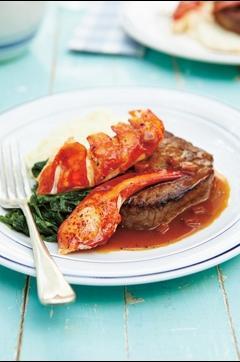 Recette de Terre et mer : homard et filet mignon