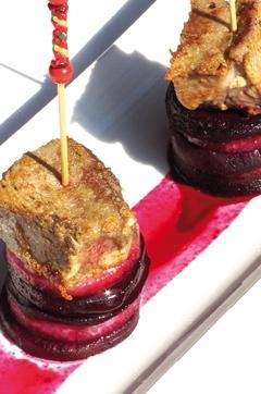 Recette de Agneau aux épices méli mélo de betteraves et navets