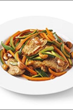 Recette de Wok de veau aux légumes d'été