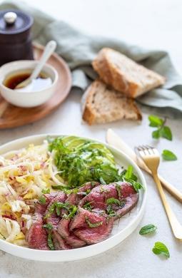 Recette de Salade fraîcheur : boeuf et endives