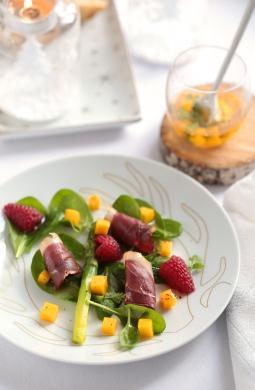 Recette de Salade sucrée-salée aux magrets séchés
